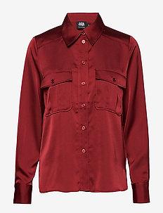 Penelope Pocket Shirt - WINE