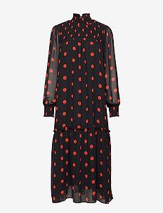 Aline Long Dress - robes midi - red dot