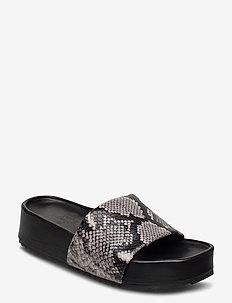 Split Sandals - platte sandalen - grey snake