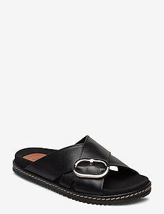 Mykonos Sandals - platte sandalen - black