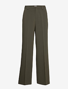 Victoria Trousers - wide leg trousers - dark khaki