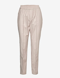 Bea Trousers - straight leg trousers - dark blush