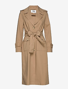 Eve Trenchcoat - trenchs - dark beige