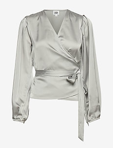 Valentina Blouse - langermede bluser - micro grey