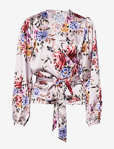 Valentina Blouse - long sleeved blouses - pink flower