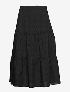 Hedda Skirt - midinederdele - black