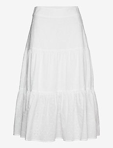 Hedda Skirt - midinederdele - white
