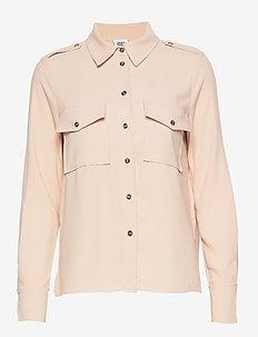 Louise Shirt - long sleeved blouses - blush