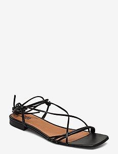 Pisa Sandals - platte sandalen - black