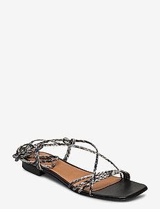 Pisa Sandals - platte sandalen - grey snake