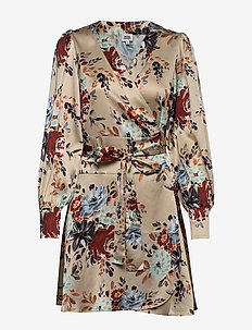 Teresa Dress - KHAKI FLOWER