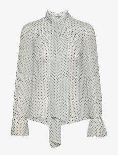 Liv Blouse - bluzki z długimi rękawami - mint dot