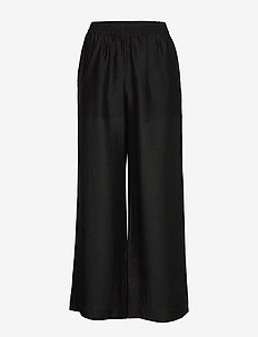 Franny Trousers - pantalons larges - black