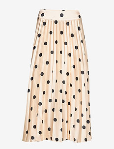 Boozt Valentina Skirt - midinederdele - black dot