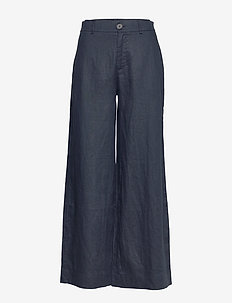 Maria Trousers - pantalons larges - navy