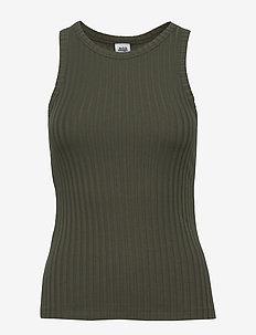 Ina Tank Top - sleeveless tops - greyish green