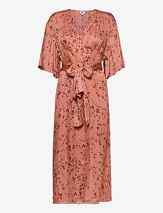 Nellie Dress - midi dresses - peach flower