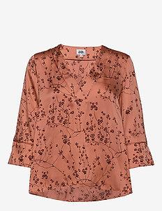 Nell Blouse - long sleeved blouses - peach flower