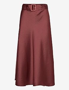Myra Skirt - maxi nederdele - dusty rose