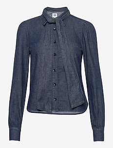 Thelma Blouse - long sleeved blouses - dark blue