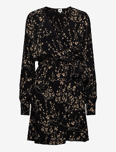Kalea Dress - robes portefeuille - black flower