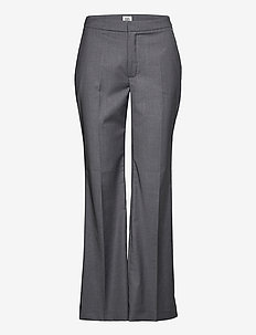 Lucinda Trousers - wide leg trousers - steel