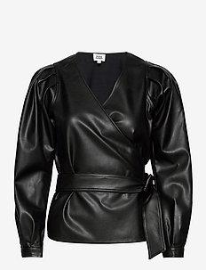Livia Blouse - long sleeved blouses - black