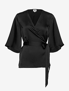 Alina Blouse - short-sleeved blouses - black