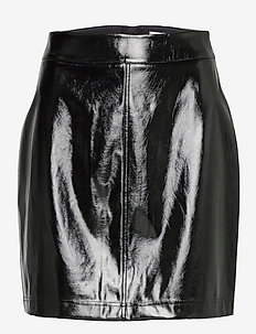 Becky Patent Skirt - pencil skirts - black
