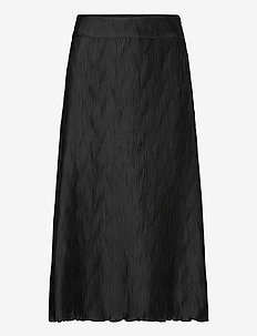 Ella Wave Skirt - maxi skirts - black