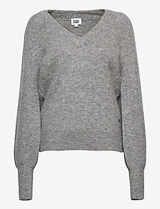 Valeria Sweater - jumpers - grey melange