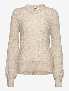 Hazel Sweater - jumpers - pearl melange