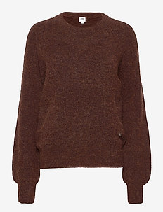 Zanna Sweater - jumpers - umber