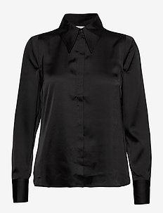 Peggy Shirt - long-sleeved shirts - black