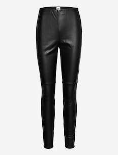 Arleen Trousers - leather trousers - black
