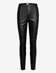 Arleen Trousers - læderbukser - black
