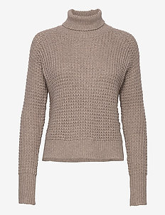 Jaida Turtleneck - turtlenecks - oak melange