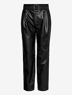 Aria Trousers - leather trousers - black