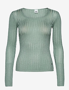 Beatrix Lurex Top - knitted tops & t-shirts - soft jade