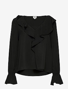 Doris Blouse - long sleeved blouses - black