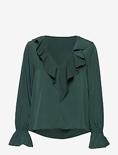 Doris Blouse - long sleeved blouses - forest