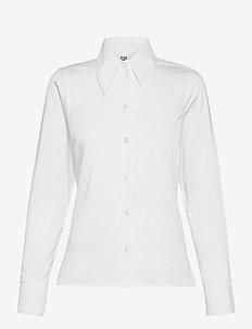 Pilar Shirt - long-sleeved shirts - white