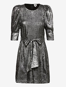 Edie Dress Silver - short dresses - metallic