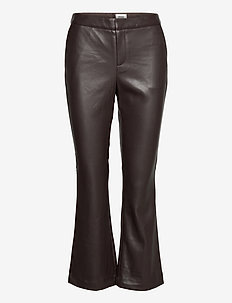 Cornelia Trousers - leather trousers - dk hickory