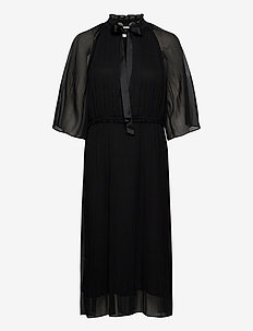 Cher Dress - midi dresses - black