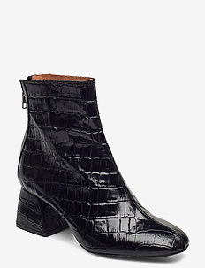 Madrid Boots - talon haut - black croco