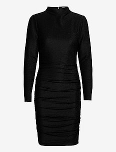 Dina Dress - midi dresses - black