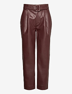 Aria Trousers - skinnbyxor - reddish brown