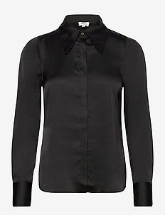 Peggy Shirt - långärmade blusar - black