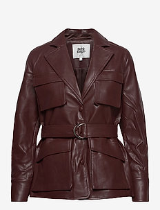 Cecilia Jacket - lederjacken - reddish brown